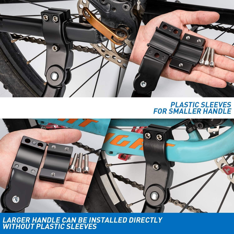 28 Pouce VTT et V/élo Pliant 24 Pouce HENMI Bike Stand 4cm R/églable Hauteur et Universel Kickstand pour VTT