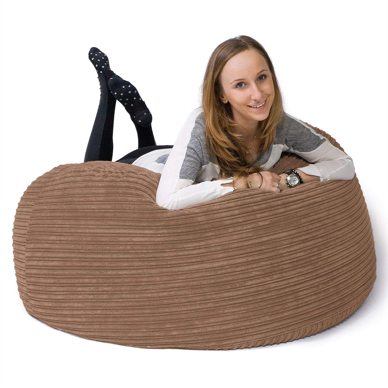 Lounge Pug®, 'Mammoth' Sofa Sitzsack XXL, Sand Riesen Sessle, Cord Sand XXL, 1de2af