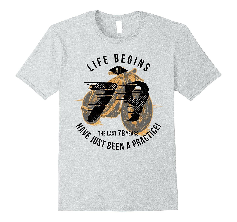 Life Begins at 79 - Vintage 79th Birthday Gift T-Shirt-PL