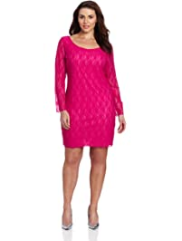 Star Vixen Women's Plus-Size Lace Sheath Dress