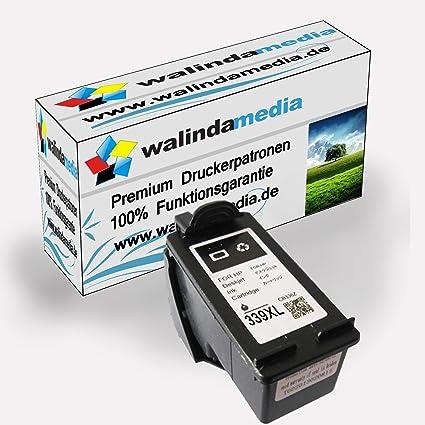 Walinda - Cartucho de tinta negra (HP 339) para impresoras HP ...