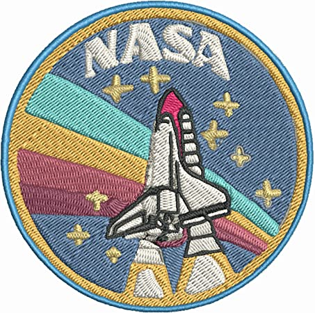 Astronaut Man Rocket Space Ship Cute Embroidered Iron On Patch 12-I