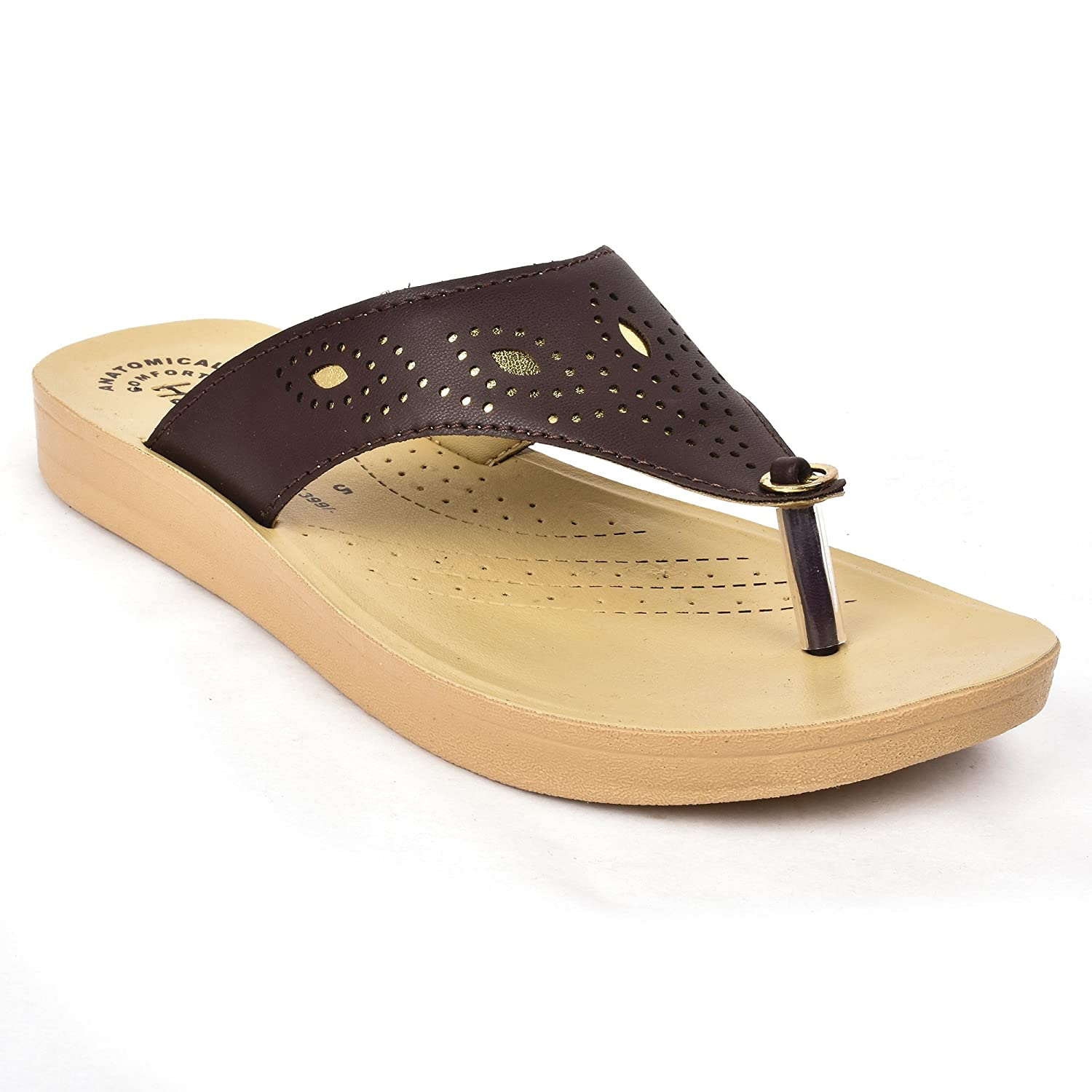 Buy Action Shoes Women's Brown Slipper
