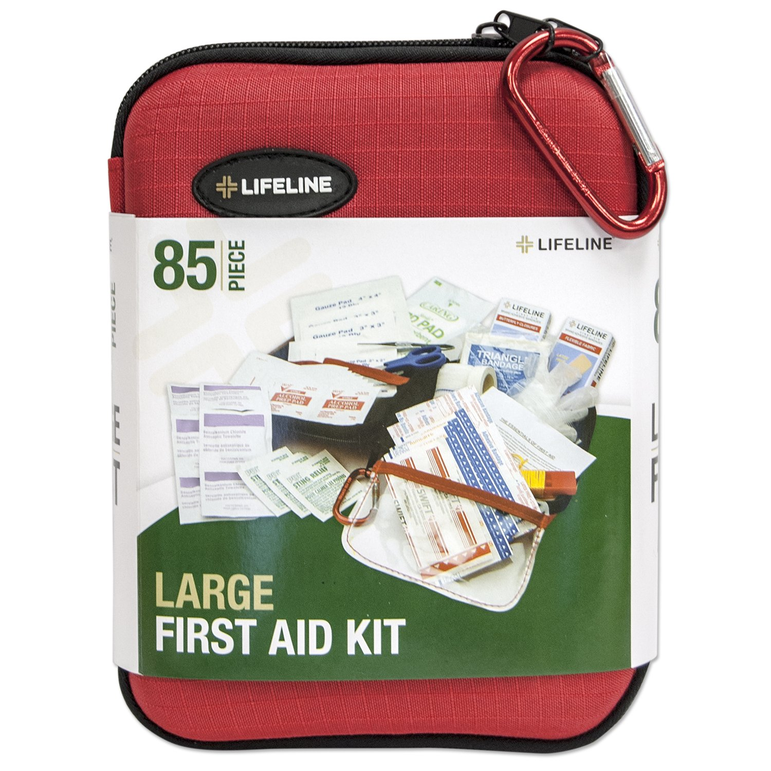 Lifeline 85-Piece Large Hard Shell First Aid Kit 6