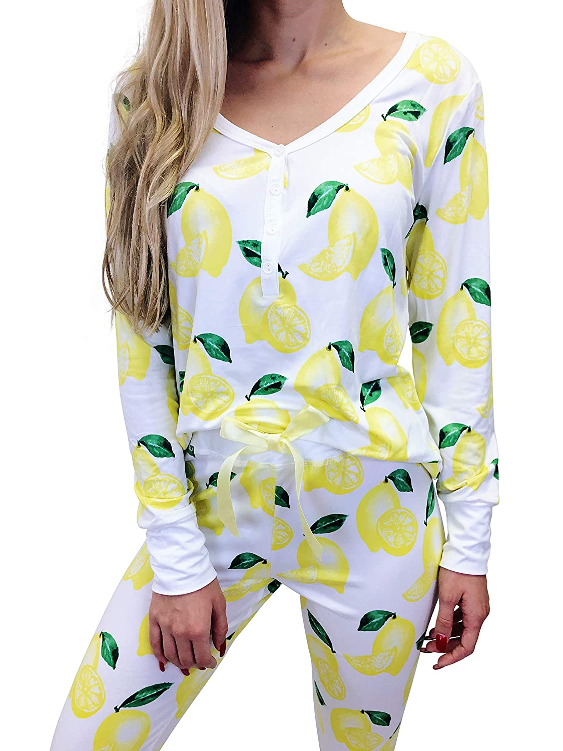 Jordann Jammies Lemon Women's Pajama Set   Super Soft and Slimming