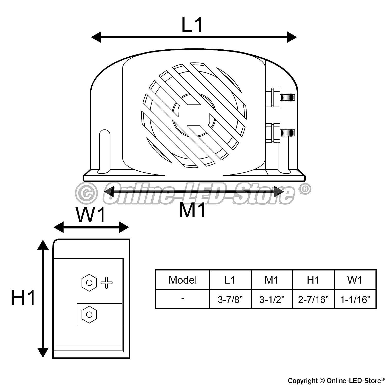 Amazon.com: LAMPHUS SoundAlert SABA20 Back-Up Alarm - 97 dB 12-48V ...