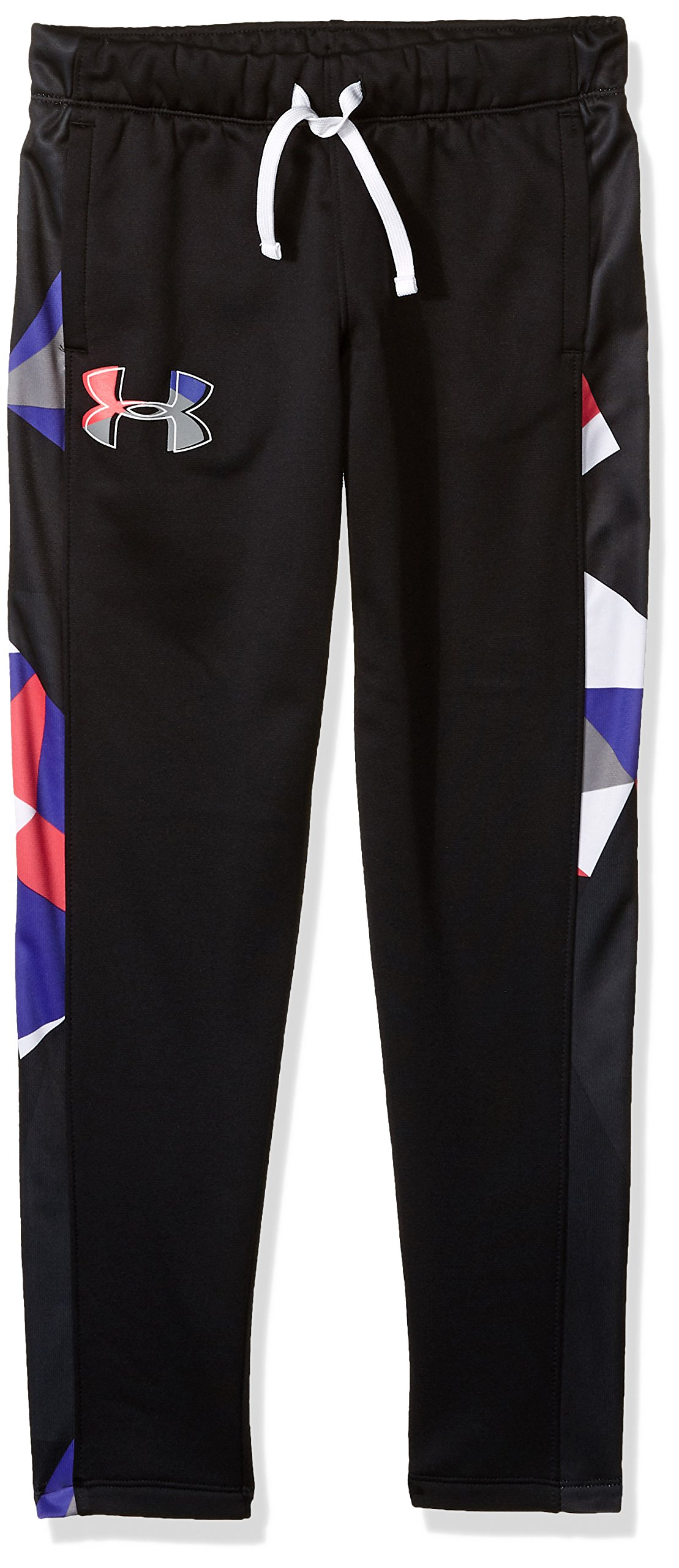 Under Armour Girls Armour Fleece Pants, Black (001)/Penta Pink, Youth X-Large by Under Armour
