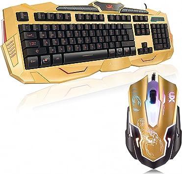 Mouse y Teclado Gaming – 3 Luces Traseras Designadas y ...