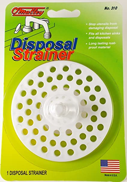 Garbage Disposal And Sink Strainer Guard   White Plastic   Manufactured In  USA