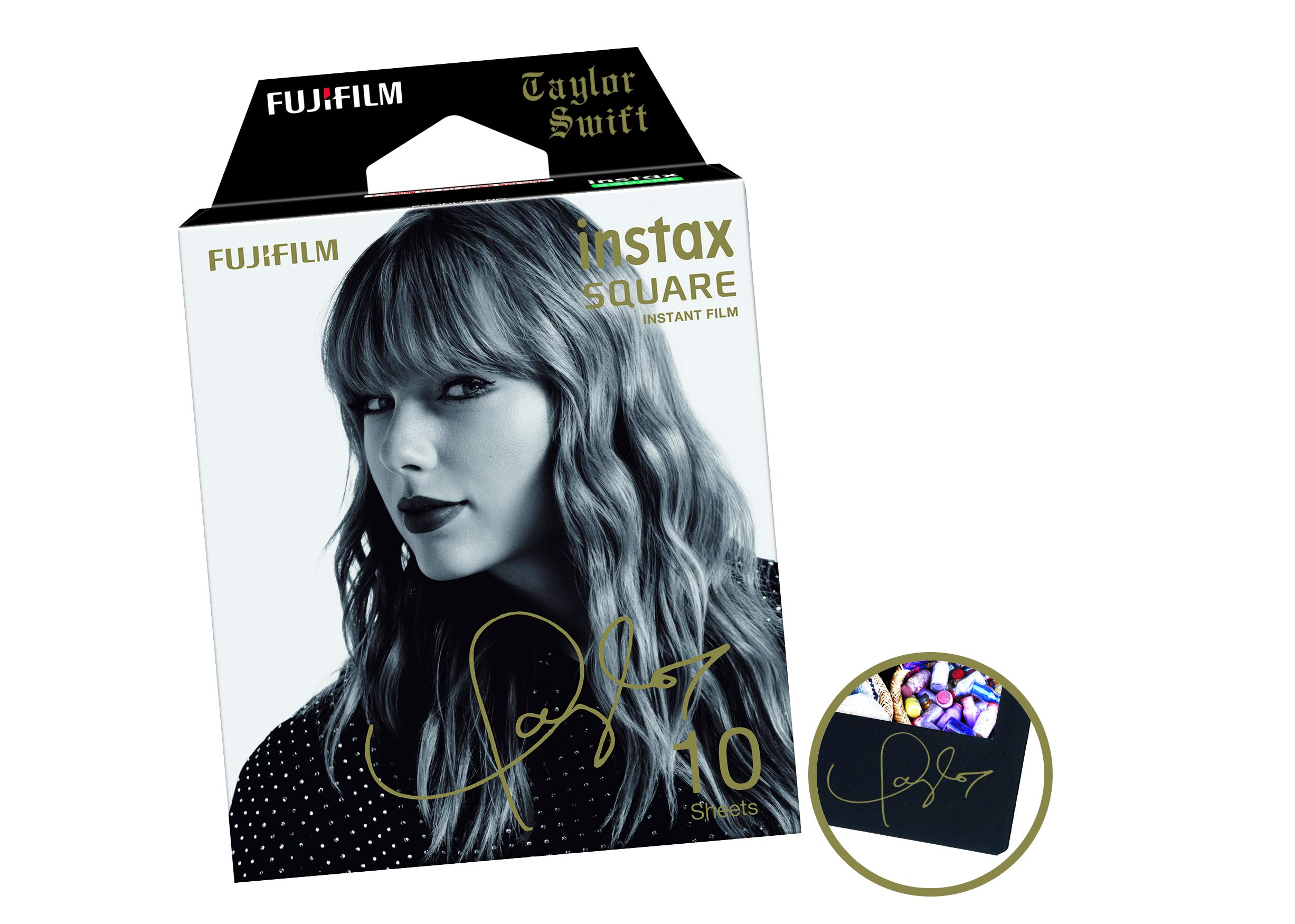 Fujifilm Instax Square Film Taylor Swift Edition (10 Exposures), Black