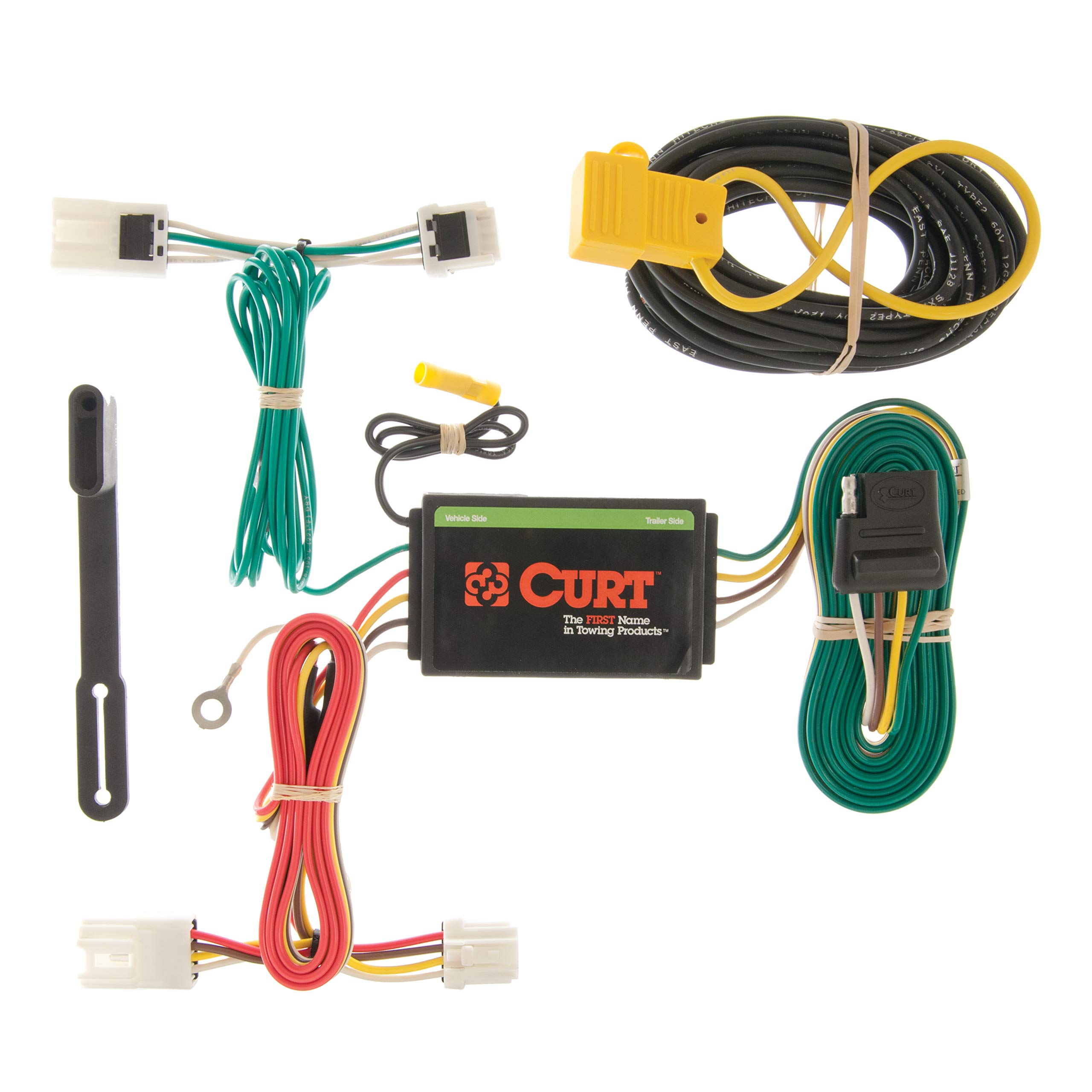 CURT 56127 Vehicle-Side Custom 4-Pin Trailer Wiring Harness for Select Mitsubishi Lancer, Outlander Sport, RVR by CURT