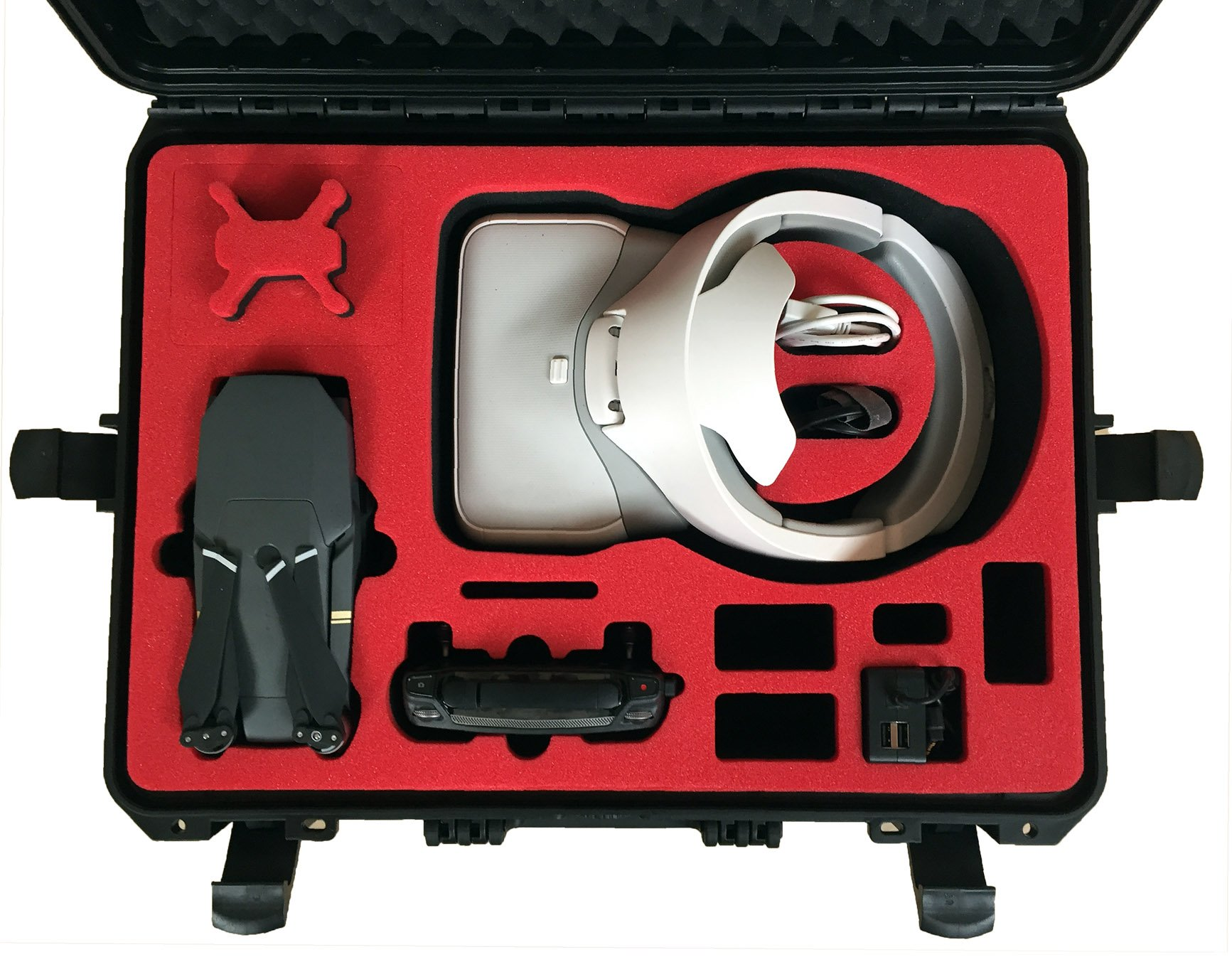 Professional Carrying Case for DJI Goggles (also racing edition) and DJI Mavic Pro and Platinum - 100% Water and dust proofed - by MC-CASES by mc-cases (Image #2)