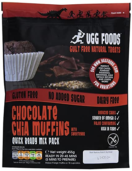 Ugg Foods - Chocolate Chia Muffin Mix - 455g
