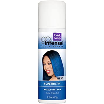 Amazon Com Temporary Hair Color By Softsheen Carson Dark And Lovely Go Intense Color Sprays Hair Color Spray For Instant And Ultra Vibrant Color Even On Dark Hair For Natural And Relaxed Hair Bluetricity Beauty