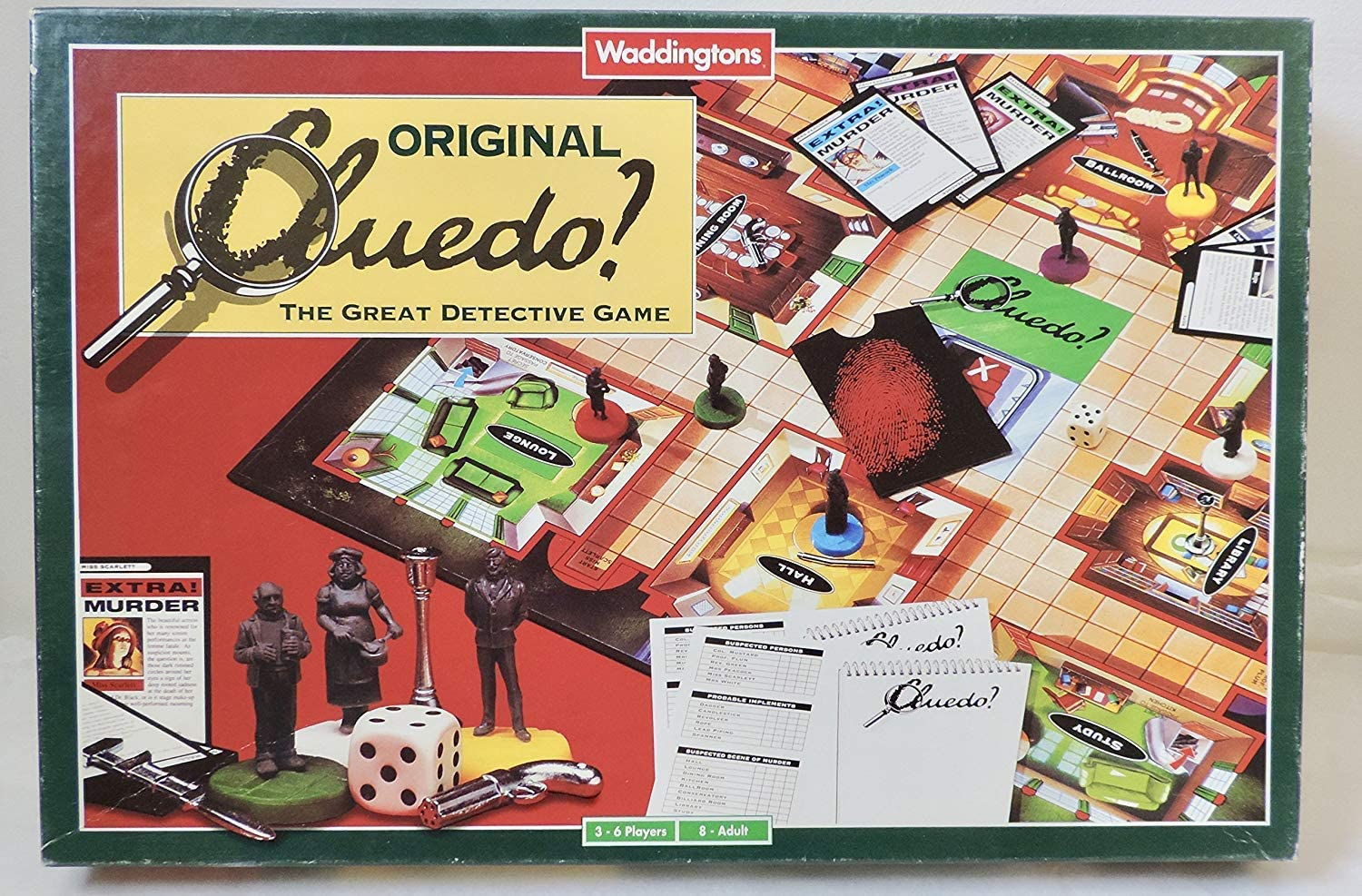 Waddingtons Cluedo - The Great Derective Game: Amazon.es: Juguetes y juegos