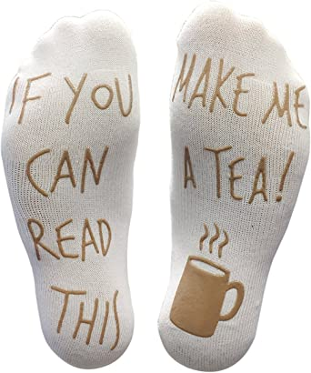 IF YOU CAN READ THIS REFILL MY CIDER FUNNY SOCKS GREAT GIFT PRESENT IDEA