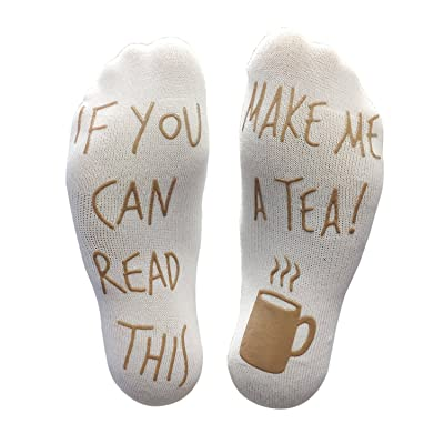 'If You Can Read This Make Me A Tea' Funny Socks - Perfect Joke Novelty Gift For Men & Women