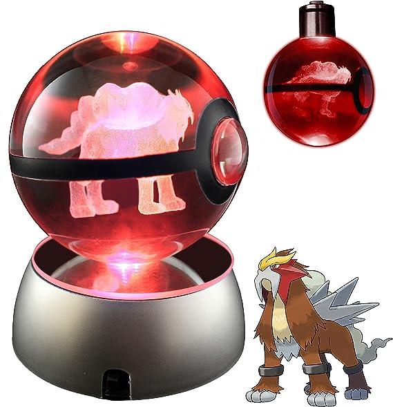 Pokemon Celebi 3D Laser Crystal Ball LED Lamp Base Collectible Gift 50-80mm