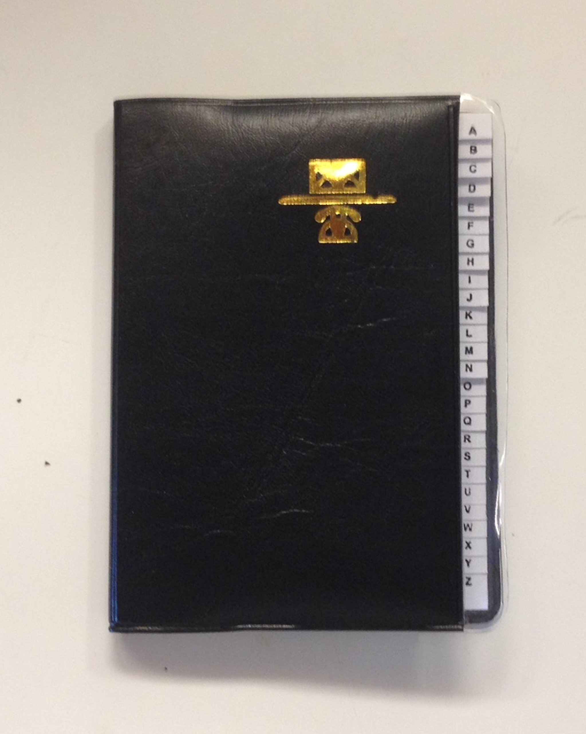 Kamset Address Telephone Book Small 3.25'' x 4'' Black