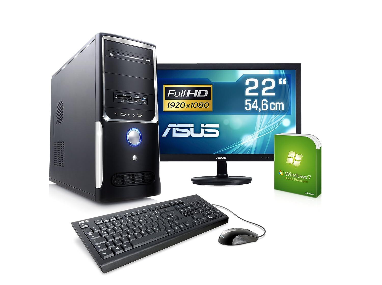 69b473f8acaabb PC mit Monitor - CSL Sprint Vision H6465 - AMD A8-6600K  Amazon.de  Computer    Zubehör