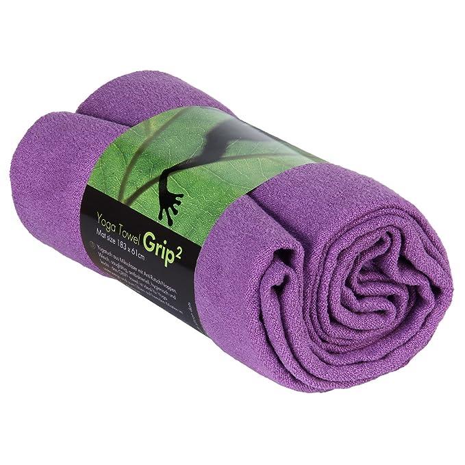Toalla de yoga GRIP2 con puntos antideslizantes ...
