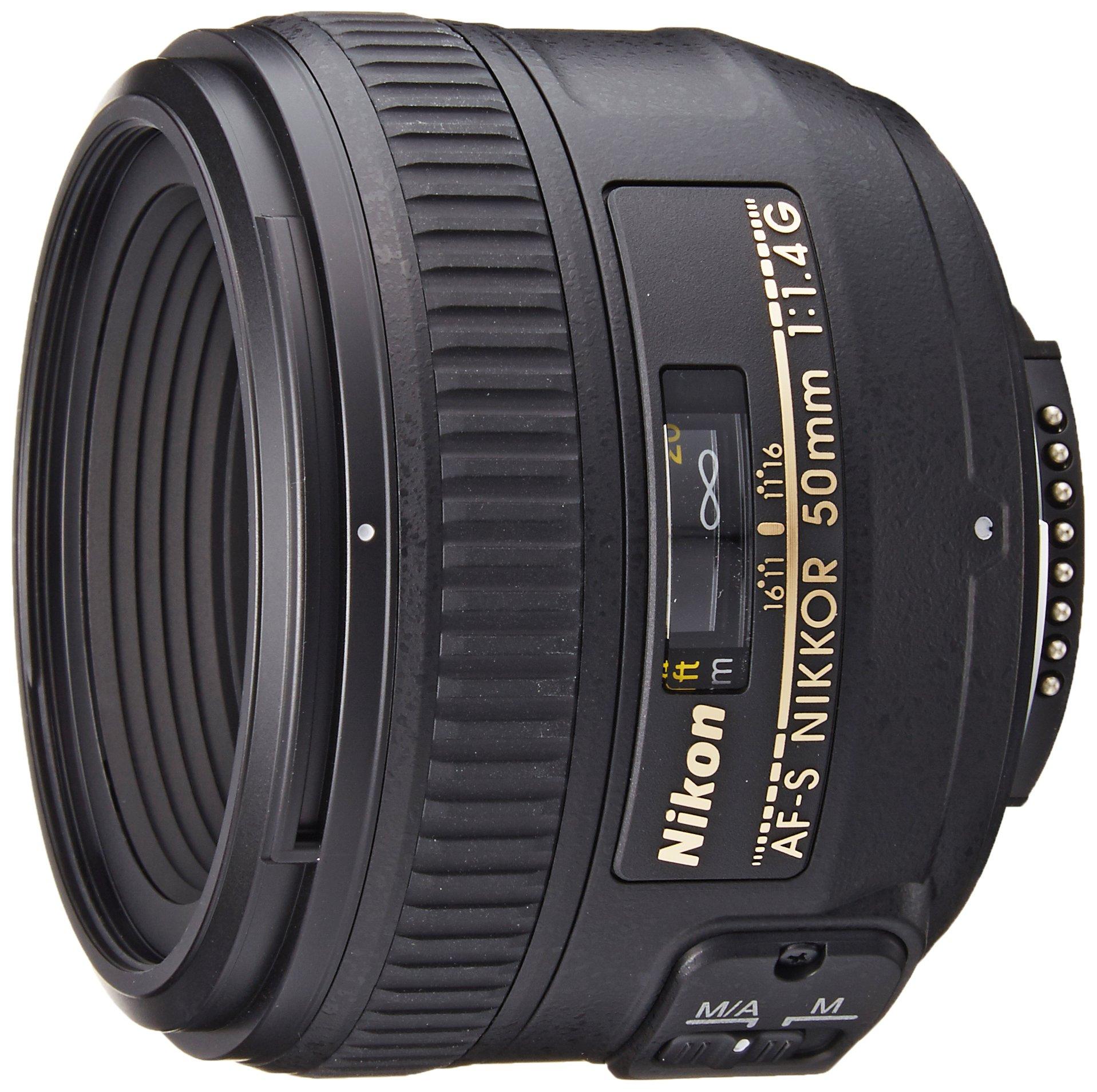 Nikon AF-S FX NIKKOR 50mm f/1.4G Lens with Auto Focus for Nikon DSLR Cameras by Nikon