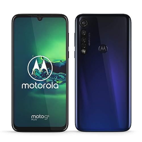 Motorola Moto g8 plus pantalla de 6 3 FHD u notch cámara de 48 MP altavoces Dolby stereo 64 GB 4GB Android 9 0 Dual SIM Smartphone azul