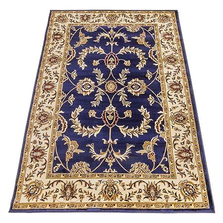 Webtappeti Klassisch Teppich Ziegler Orient Dessin Teppich Blau