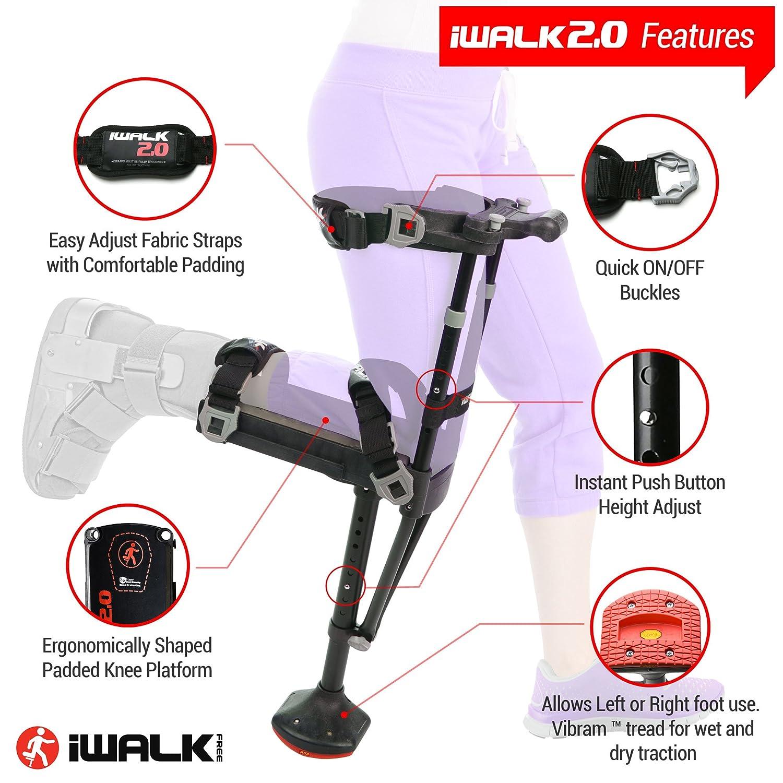 Amazon Iwalk20 Hands Free Knee Crutch Alternative For