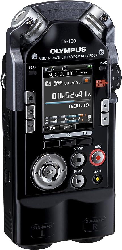 Olympus Ls 100 Multi Track Linear Pcm Recorder 2 Xlr Klinke Kombibuchsen Sdxc Kartenslot 24bit 96khz 4 Gb Interner Speicher Musikinstrumente