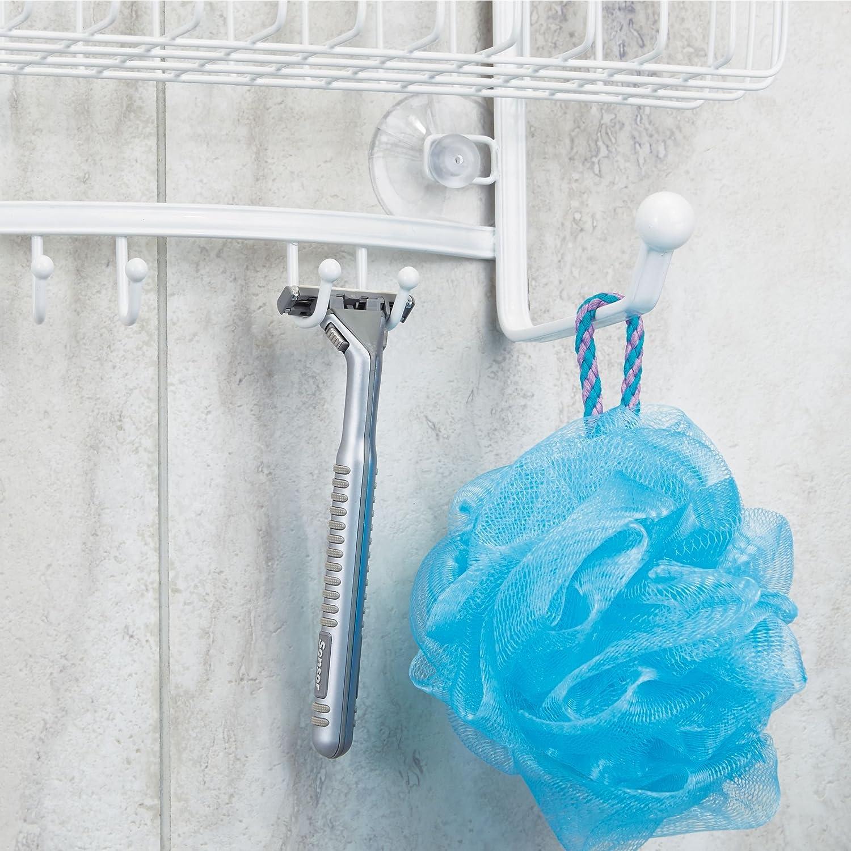 Amazon.com: mDesign Bathroom Tub & Shower Caddy, Hanging Storage ...