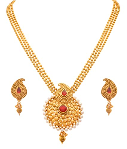 Buy Jfl Jewellery For Less Gold Plated Necklace Set For Women At Amazon In