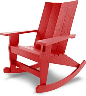 product image for Hatteras Hammocks Red Adirondack Rocker, Eco-Friendly Durawood, All Weather Resistance, Fit 'N' Finish Handcrafted in The USA