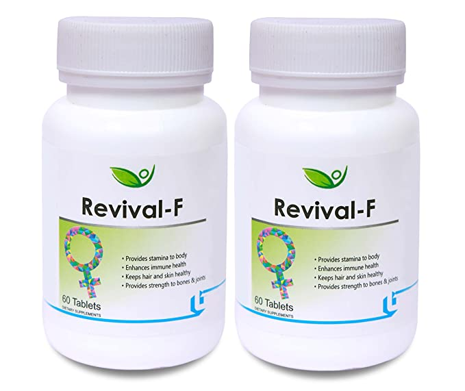 Biotrex Nutraceuticals Revival F Women Multivitamin Minerals   60 Tablets  Pack of 2
