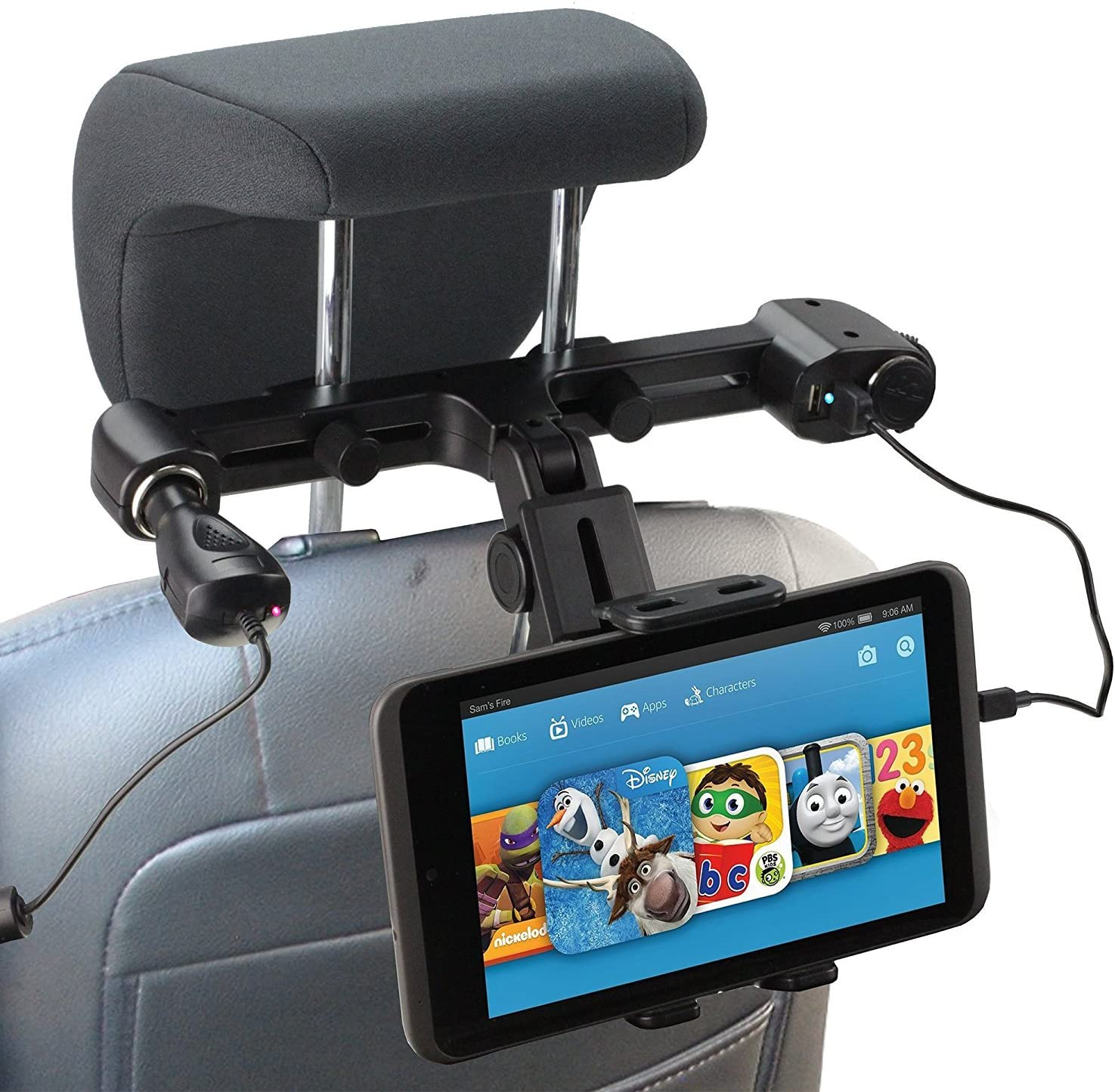 Navitech USB Port 4.2A headrest Mount with Integrated car Charger Compatible with The Acer Iconia One 10B3–A4010.1inch