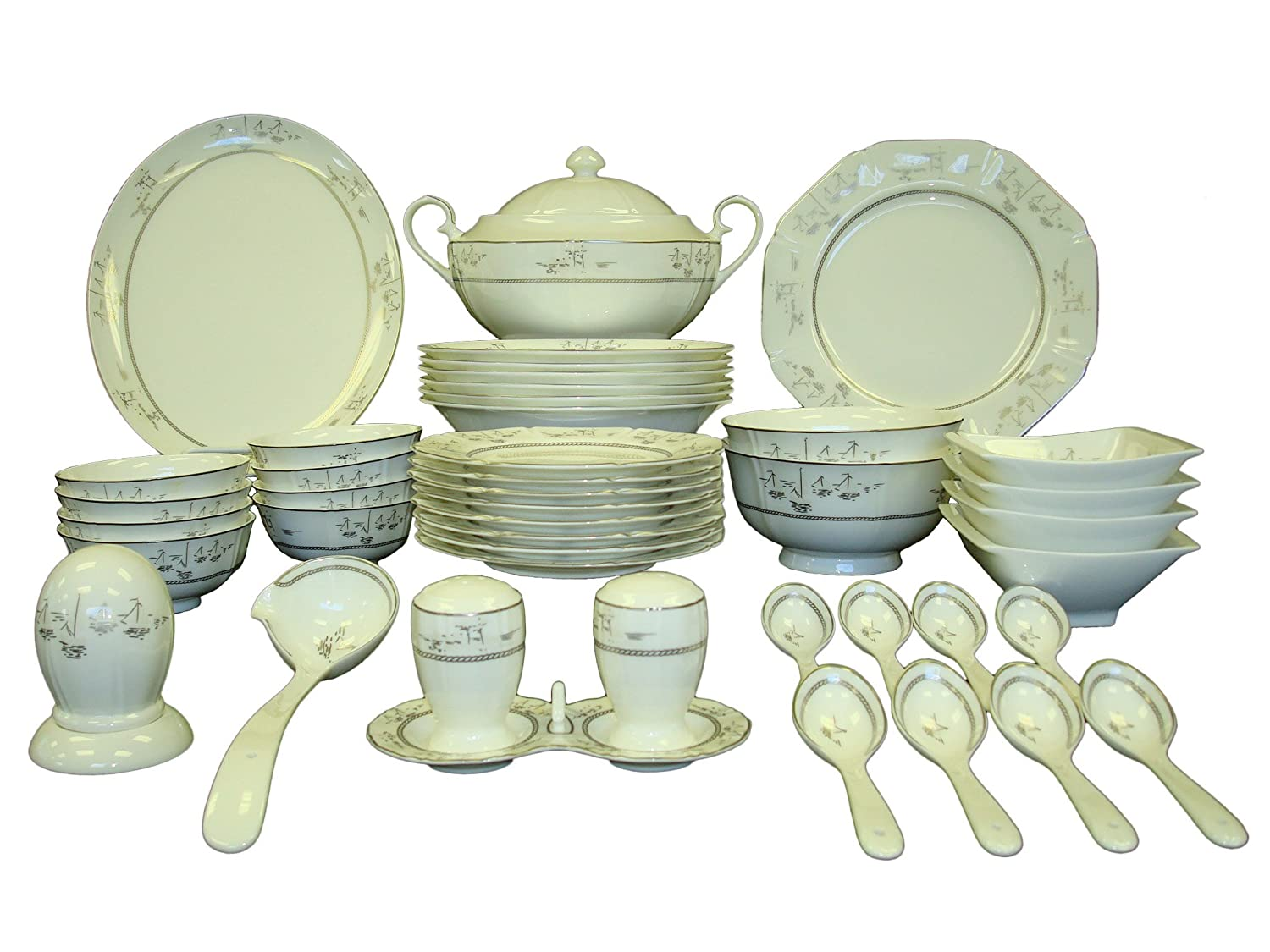 Auratic CY 46-Y06-104W Chinese Dinner Set 46-Piece  sc 1 st  WebNuggetz.com & Chinese Dinnerware Sets | WebNuggetz.com