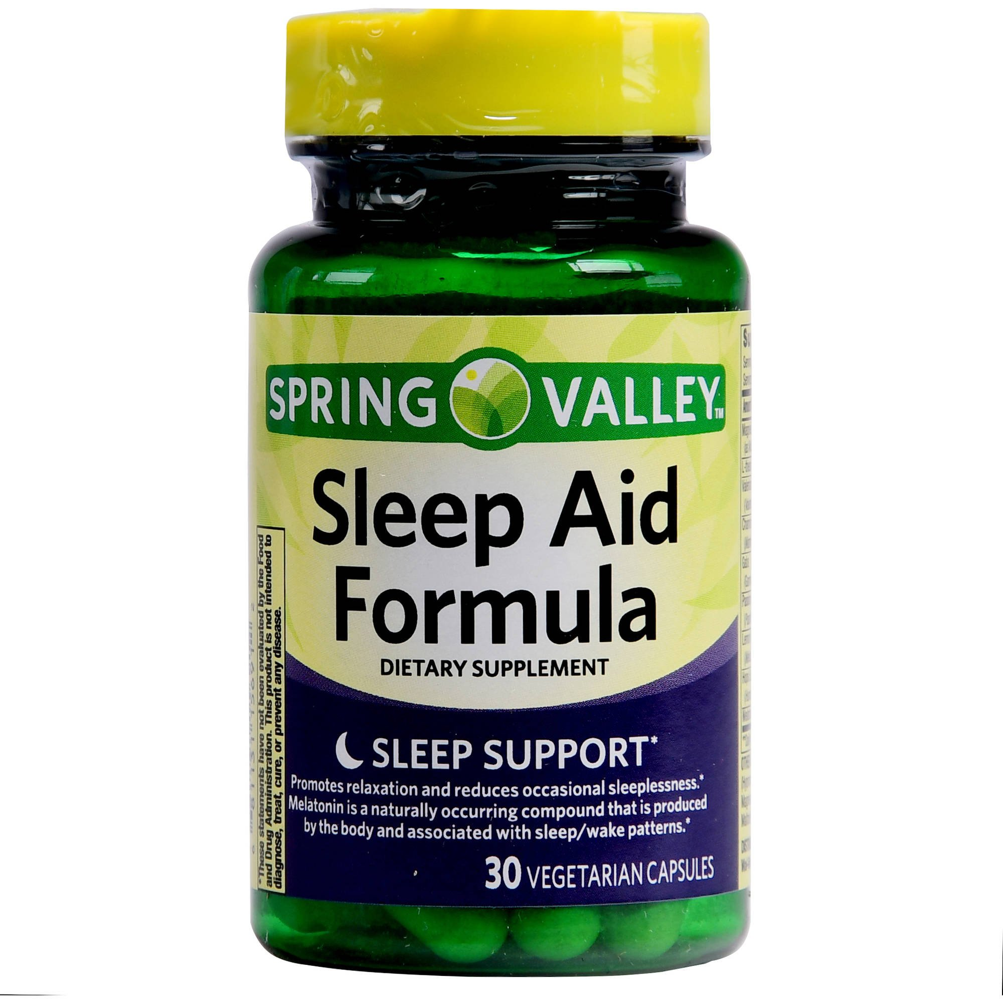 Spring Valley Melatonin Sleep Aid Formula Vegetable Capsules 10 mg 30 Ct