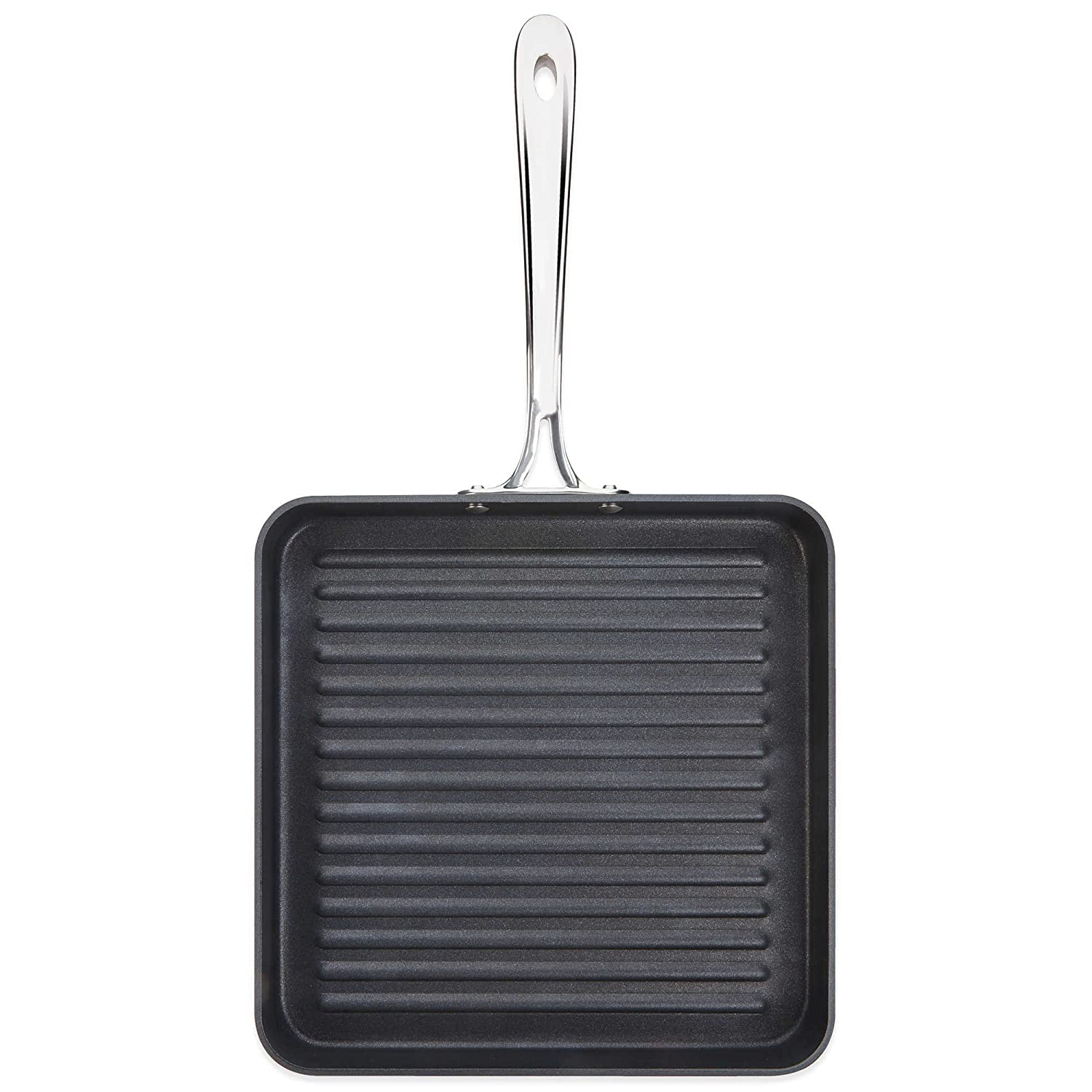 B1 Hard Anodized Nonstick 11 Inch Flat Square Grille Pan with Double-Riveted Handle (Imported) by All-Clad