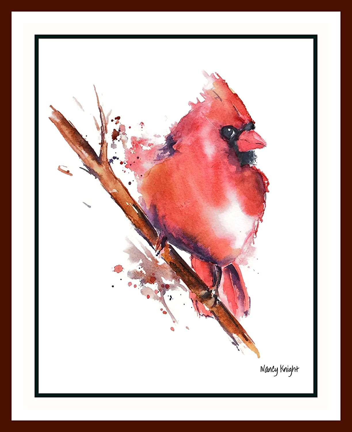 Watercolor artist magazine customer service - Amazon Com Cardinal Watercolor Art Print By Nancy Knight Watercolor Painting Bird Watercolor Bird Art Print Cardinal Painting Bird Wall Art