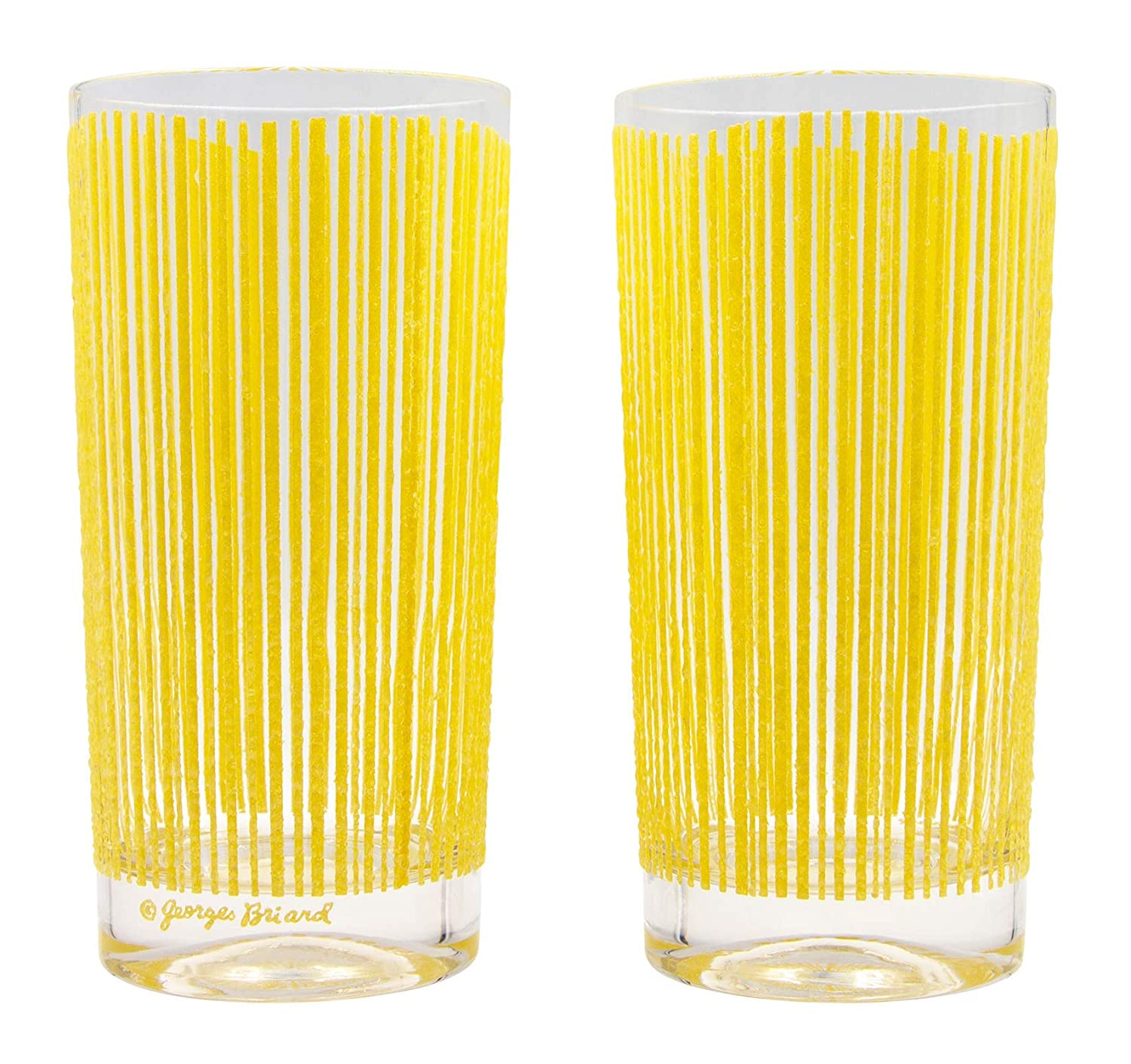 Georges Briard Icicle Highball Glass Set of 2