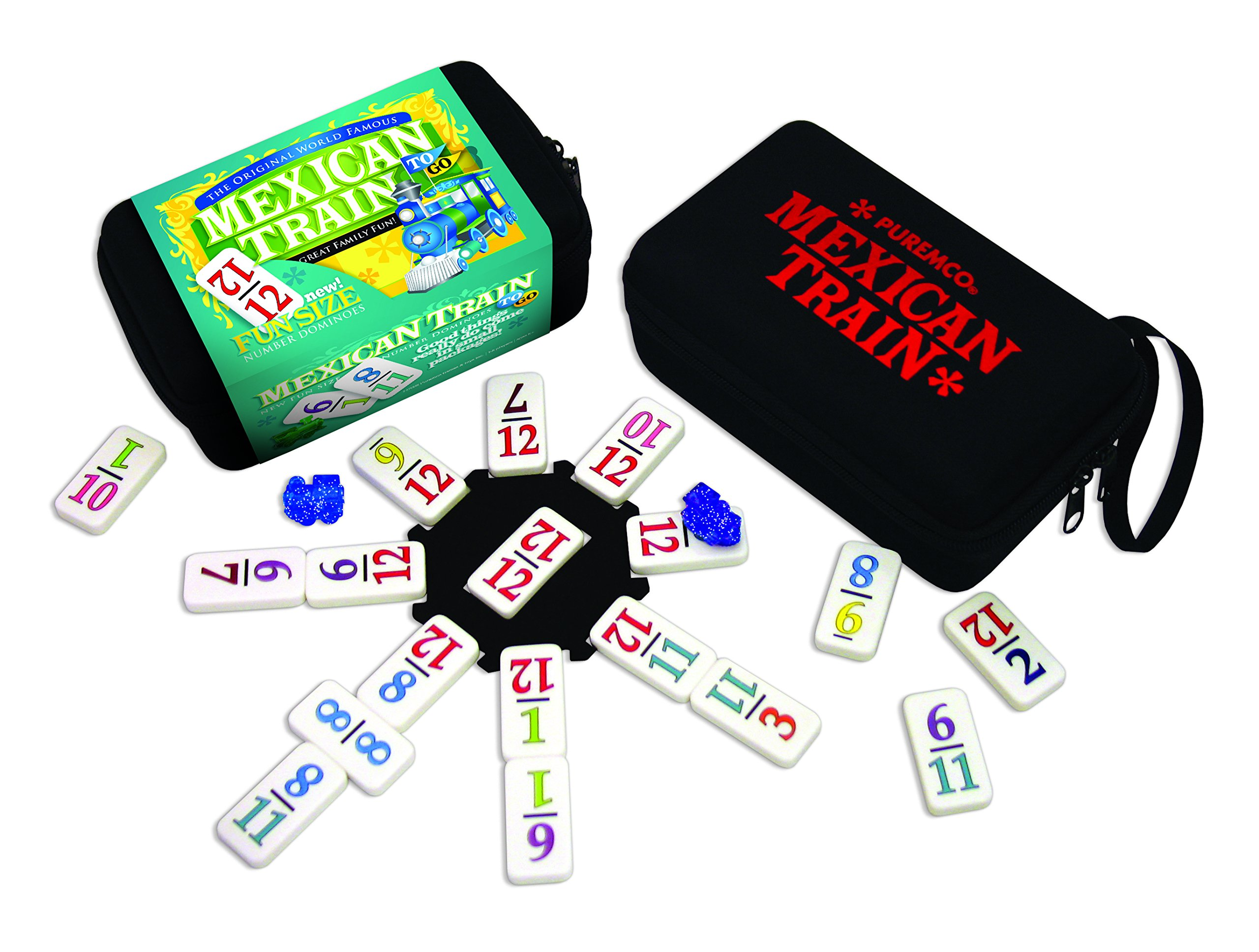 Mexican Train Dominoes To Go by Puremco