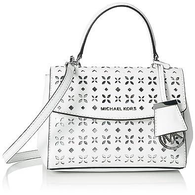003b4f8e9e70 Michael Kors Women's, Ava Cross-Body Bag, Multicoloured (White/Silver 764