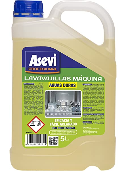 Induquim Lavavajillas Máquina Aguas Blandas 6 kg. Jabón ...