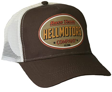 HELLMOTORS Trucker Cap Race Team Retro V8 Old School Hot Rod Cappy ...