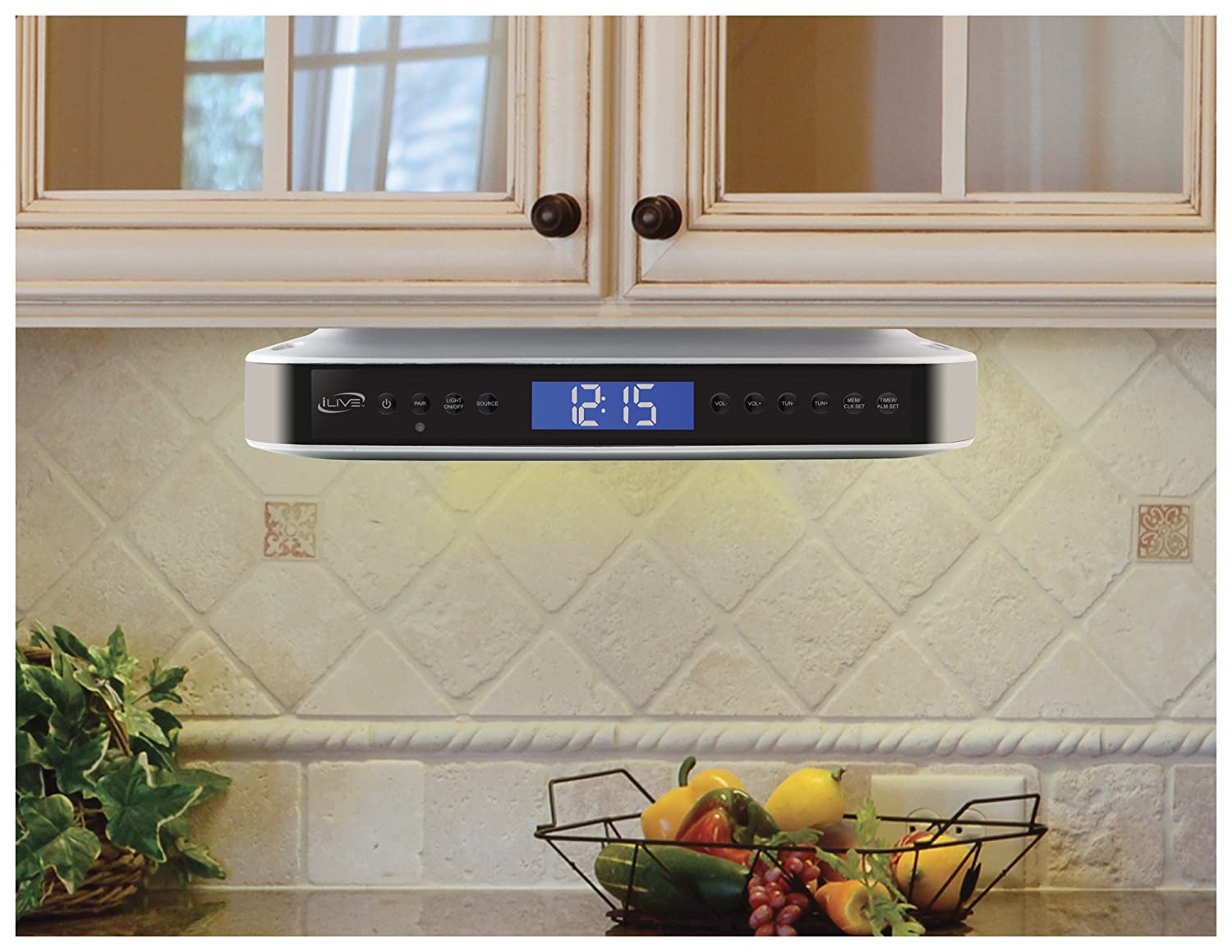 Under Kitchen Cabinet Radio Amazoncom Ilive Ikb333s Under Cabinet Radio With Bluetooth