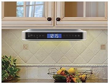 Amazon.com: iLive iKB333S Under Cabinet Radio with Bluetooth ... on kitchen cabinet radio cd player, microwave under cabinet, antique pooley radio cabinet, radio cd under cabinet,