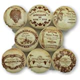 """Set of 8 French Vineyard Wine Label Cabinet Knobs (1.5"""")"""