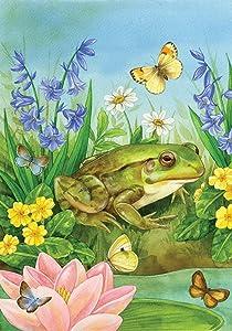 "Toland Home Garden 102563 Frog Pond 28 x 40 Inch Decorative, House Flag (28"" x 40"")"