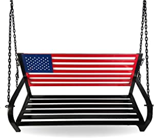 BACKYARD EXPRESSIONS PATIO · HOME · GARDEN 908353 Porch Swing, Red, White, Blue