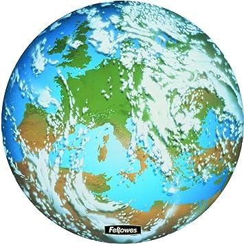 Fellowes Circular Tierra - Alfombrilla ratón rígida: Amazon.es: Informática